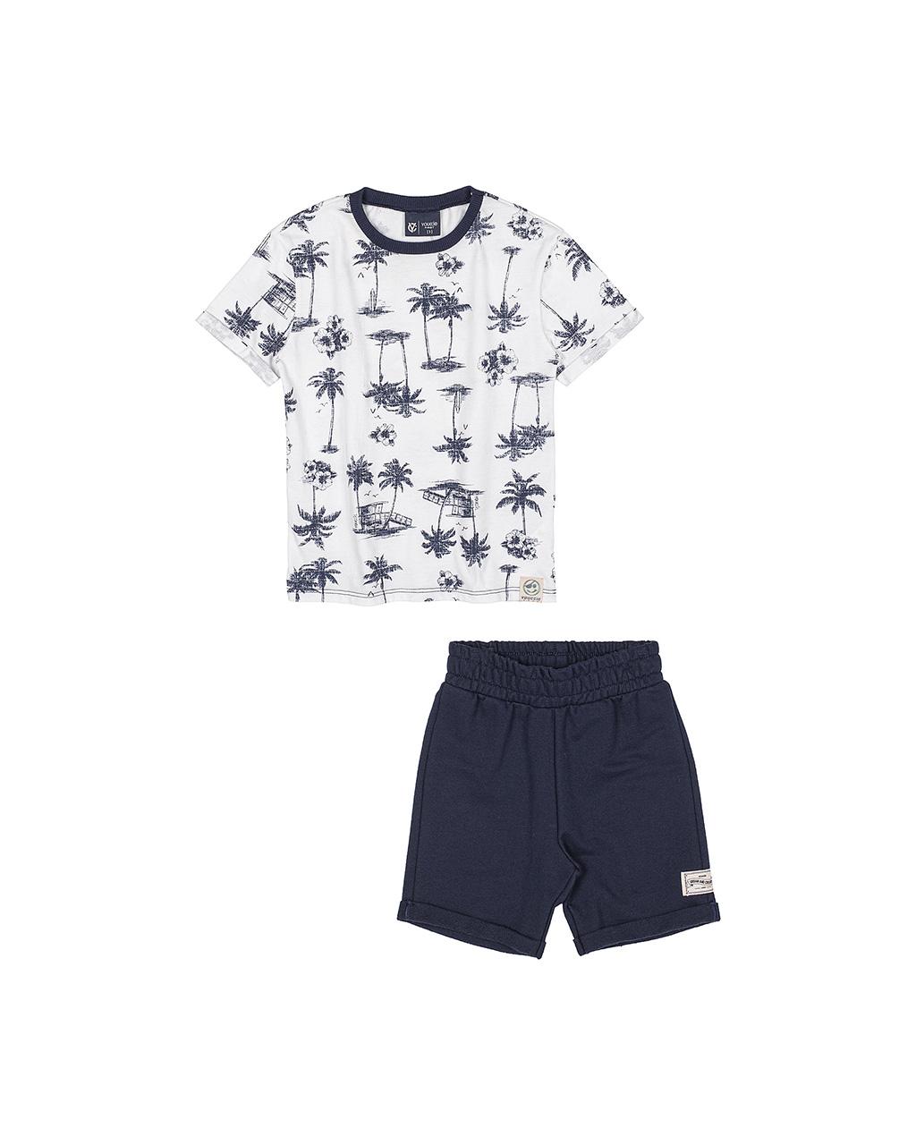 Conjunto Infantil Blusa Palmeiras e Shorts Youccie