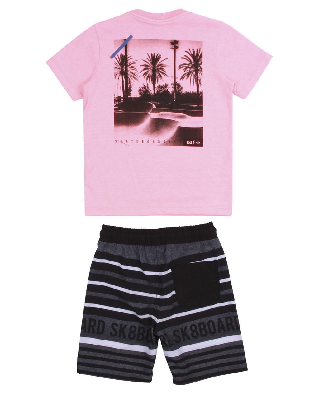 Conjunto Infantil Camiseta e Bermuda Neon Banana Danger
