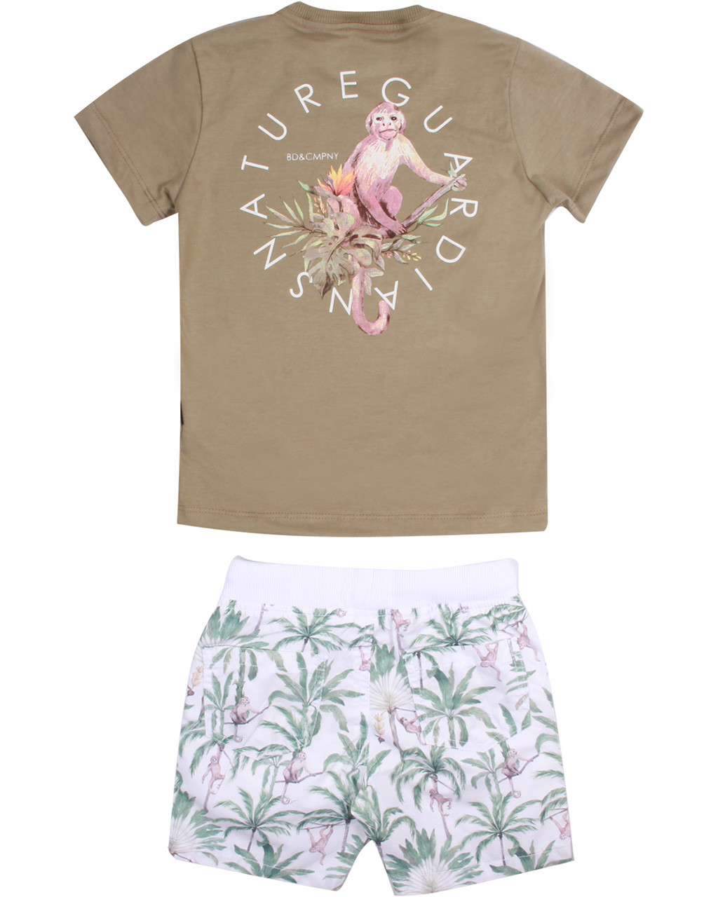 Conjunto Infantil Camiseta e Bermuda Tropical Banana Danger