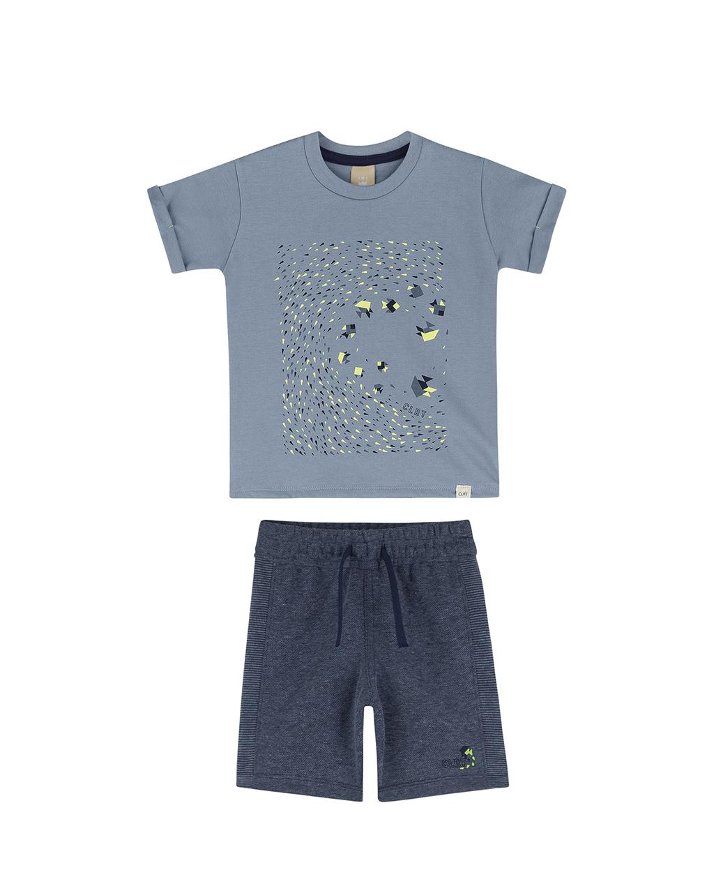 Conjunto Infantil Masculino Camiseta e Bermuda Colorittá