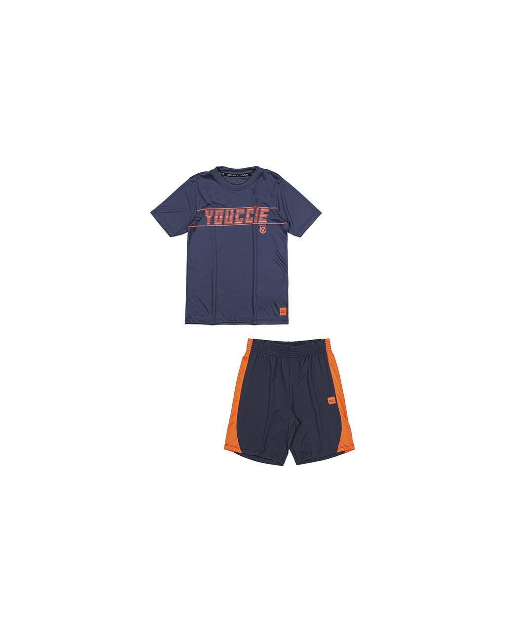 Conjunto Infantil T-Shirt e Bermuda Sports Azul Youccie