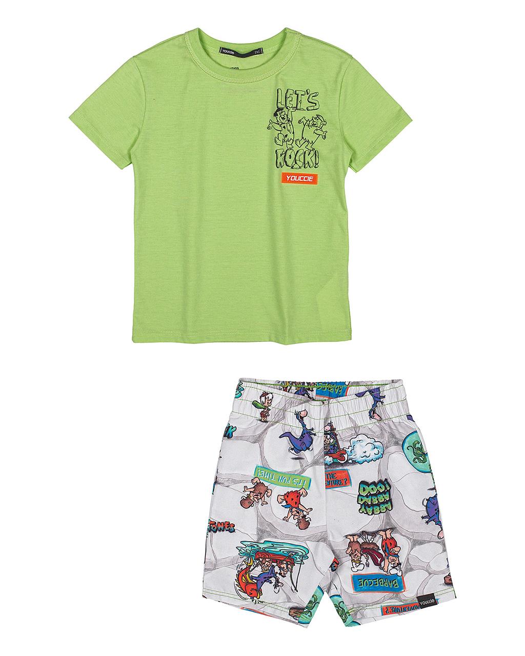 Conjunto Infantil T-Shirt e Shorts The Flintstones Youccie