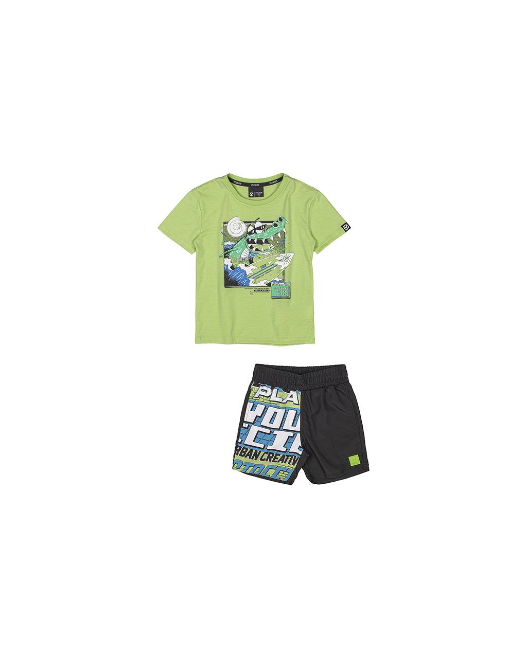 Conjunto Infantil T-Shirt Surf e Shorts Tactel Youccie