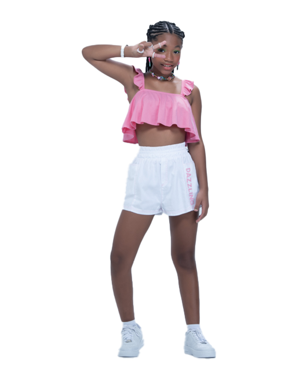 Conjunto Teen Cropped e Shorts Fruto