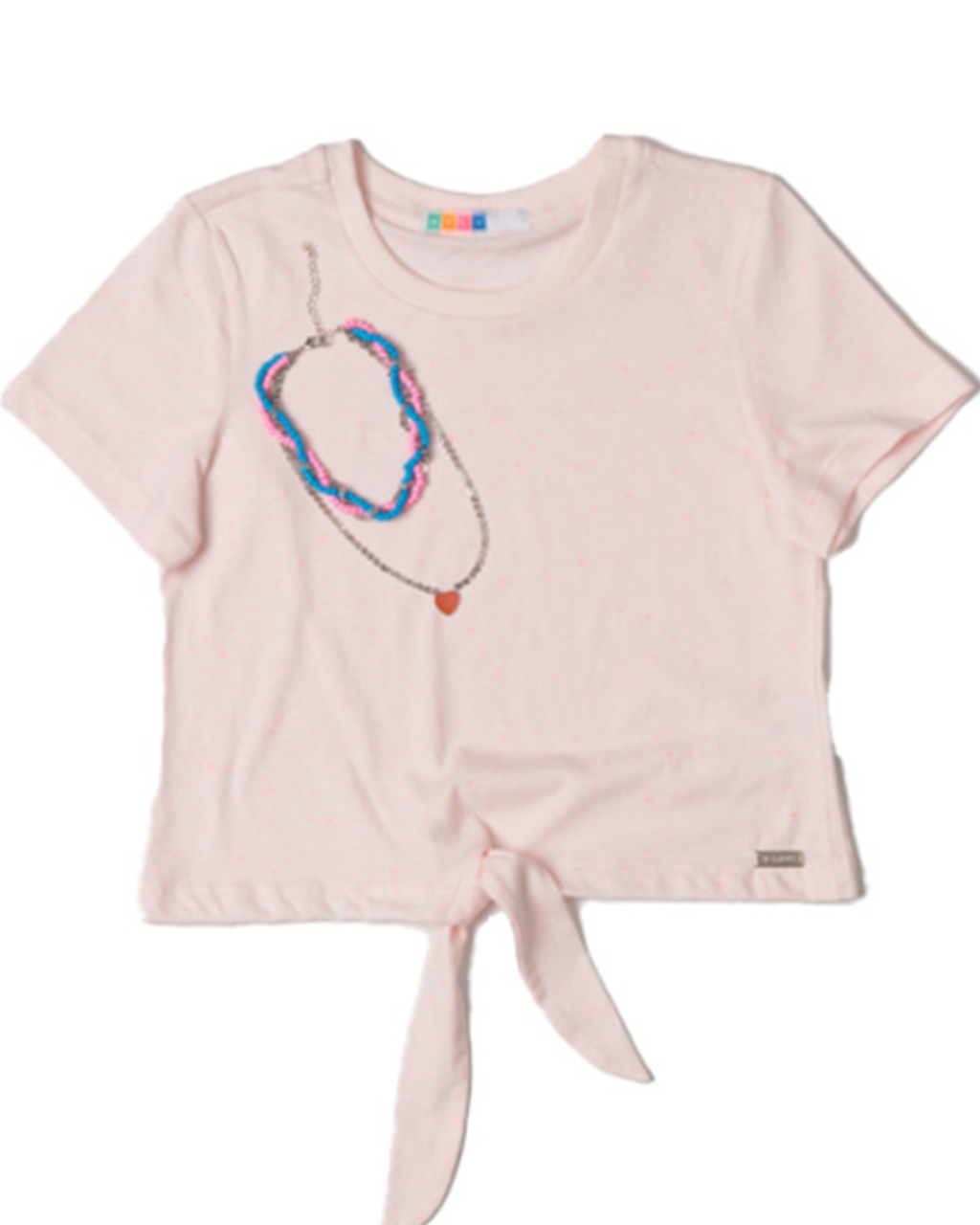 Cropped Infantil Com Amarração Rosa Mylu