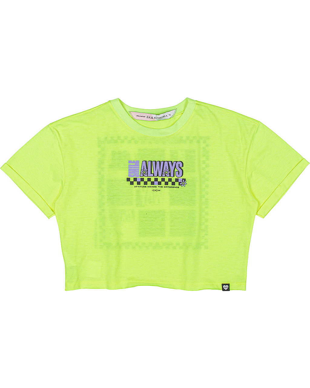 Cropped Teen Amarelo Neon I Am