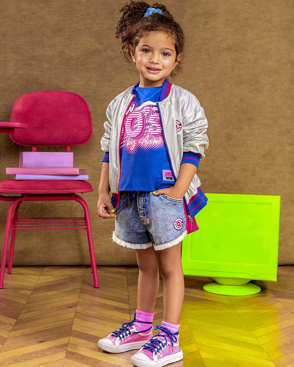 Jaqueta Infantil Holográfica Animê