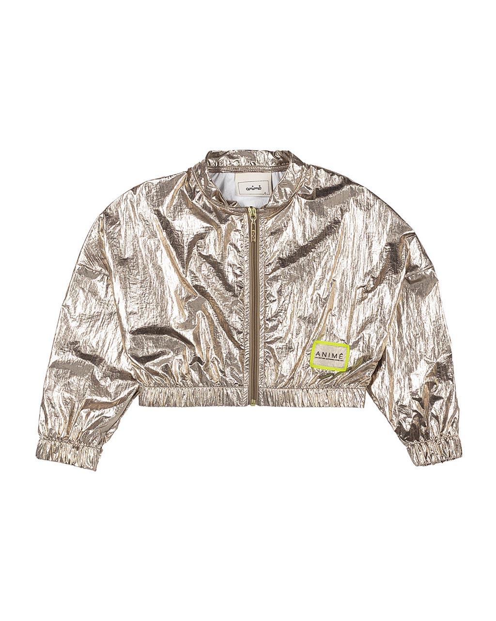 Jaqueta Infantil Plastic Dourado Animê