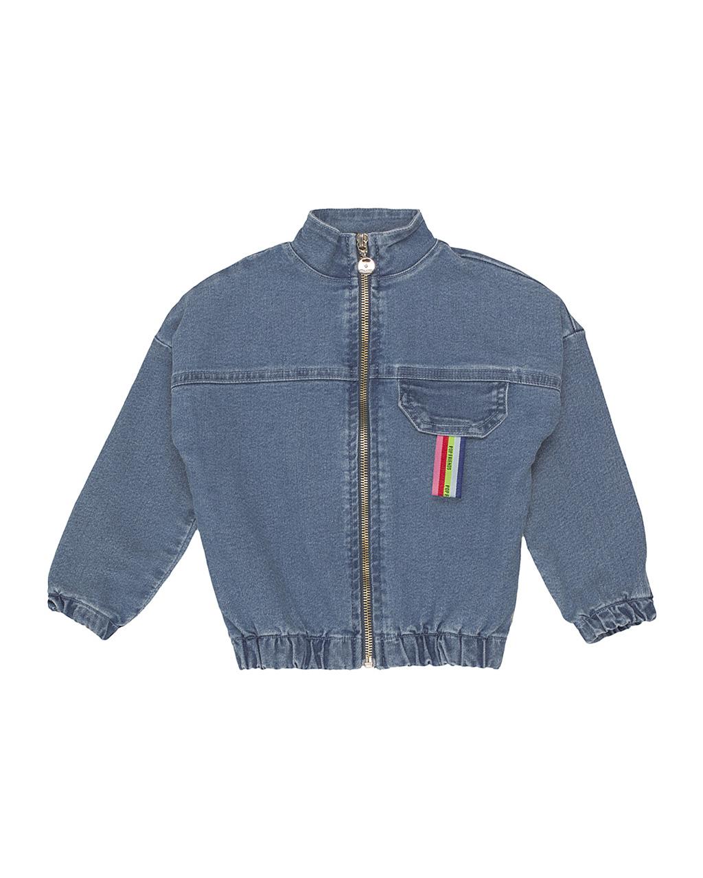 Jaqueta Jeans Infantil com Bolso fake Momi