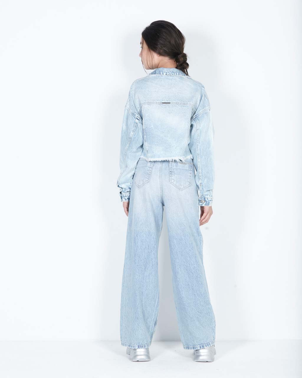 Jaqueta Teen Jeans Trucker Cropped Dimy Candy