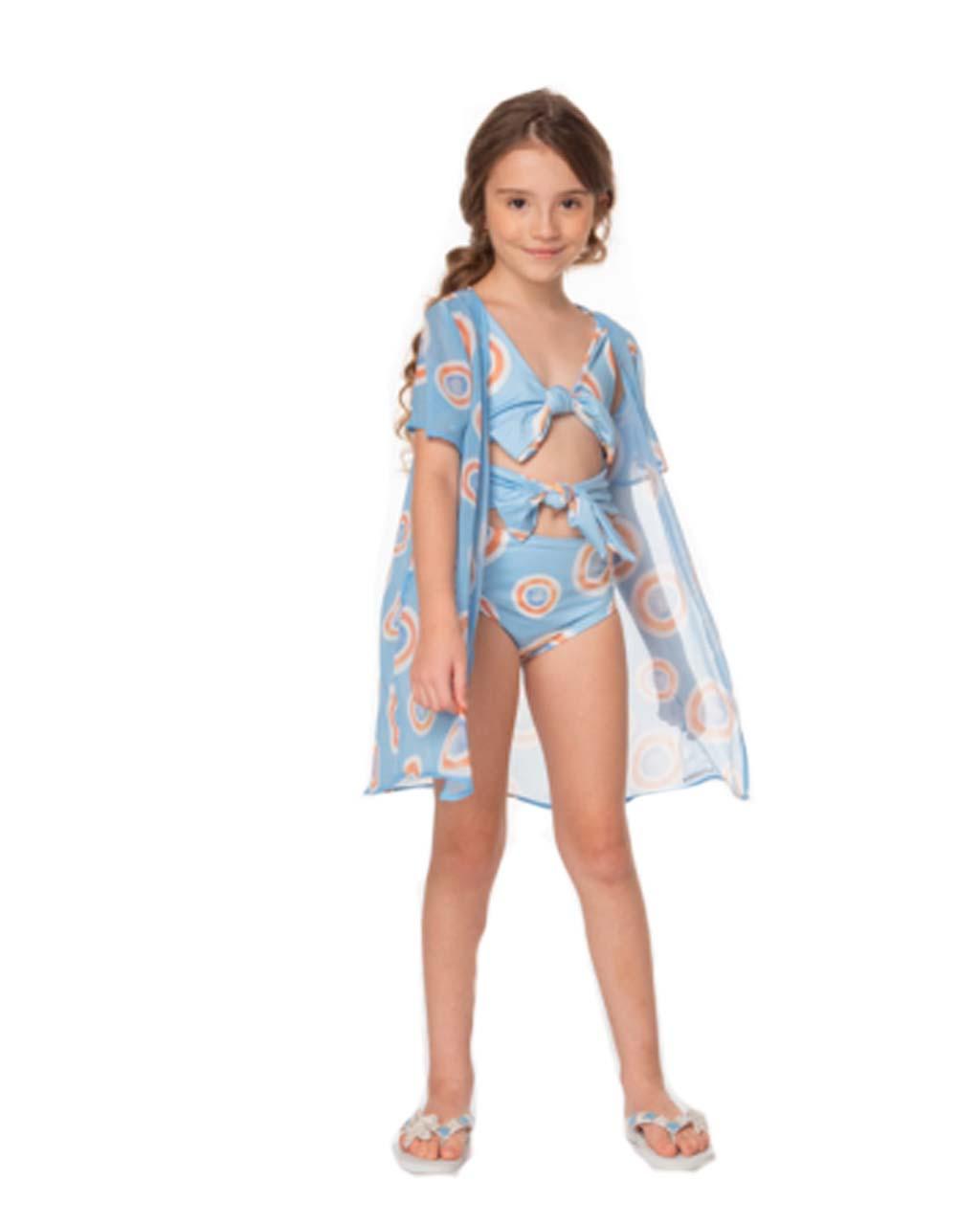 Kimono Infantil Olho Grego Azul Luluzinha