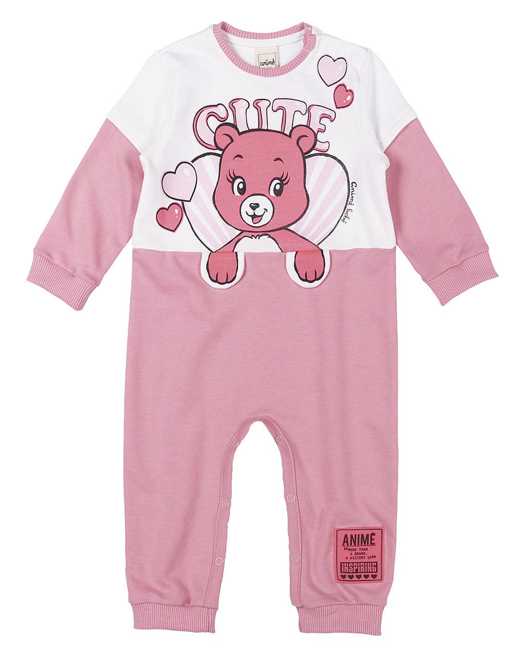 Macação Baby Moletinha Espampa Urso Animê