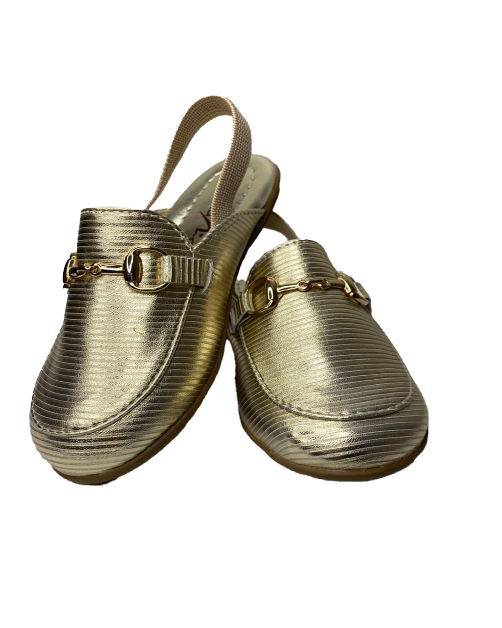 Mule Infantil Baby Dourado Detalhe Metal Menina Rio
