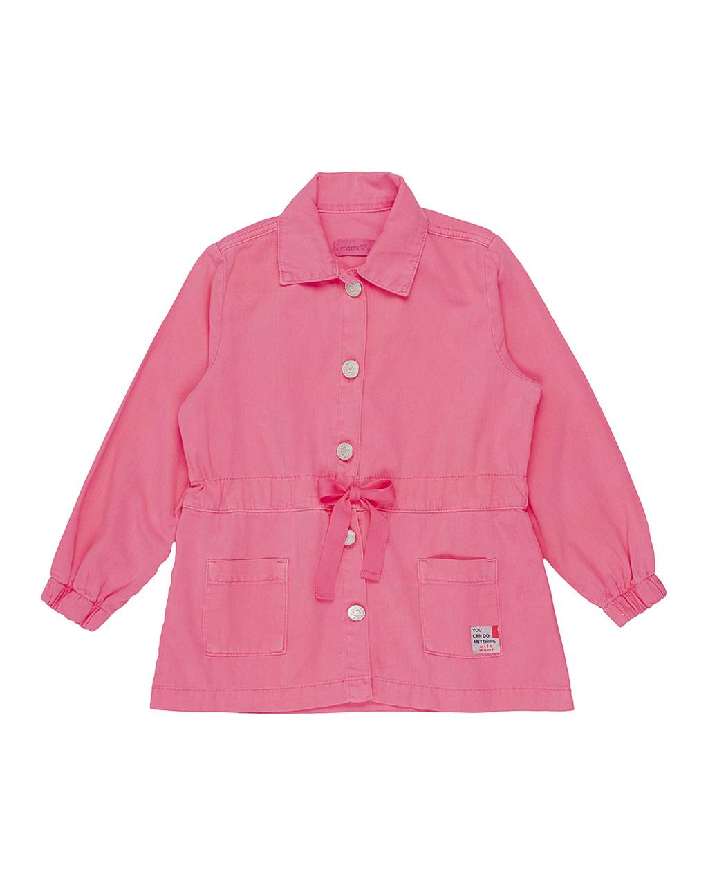 Parka Infantil Rosa Neon Momi