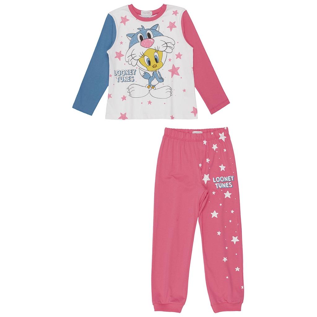 Pijama Infantil Looney Tunes Noite Estrelada Momi