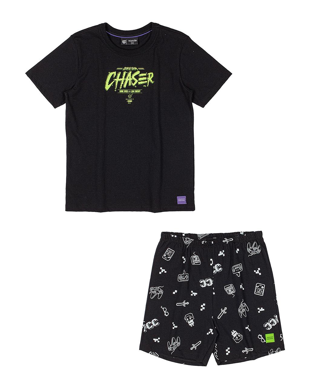 Pijama Infantil T-Shirt Dream Chaser e Bermuda Youccie