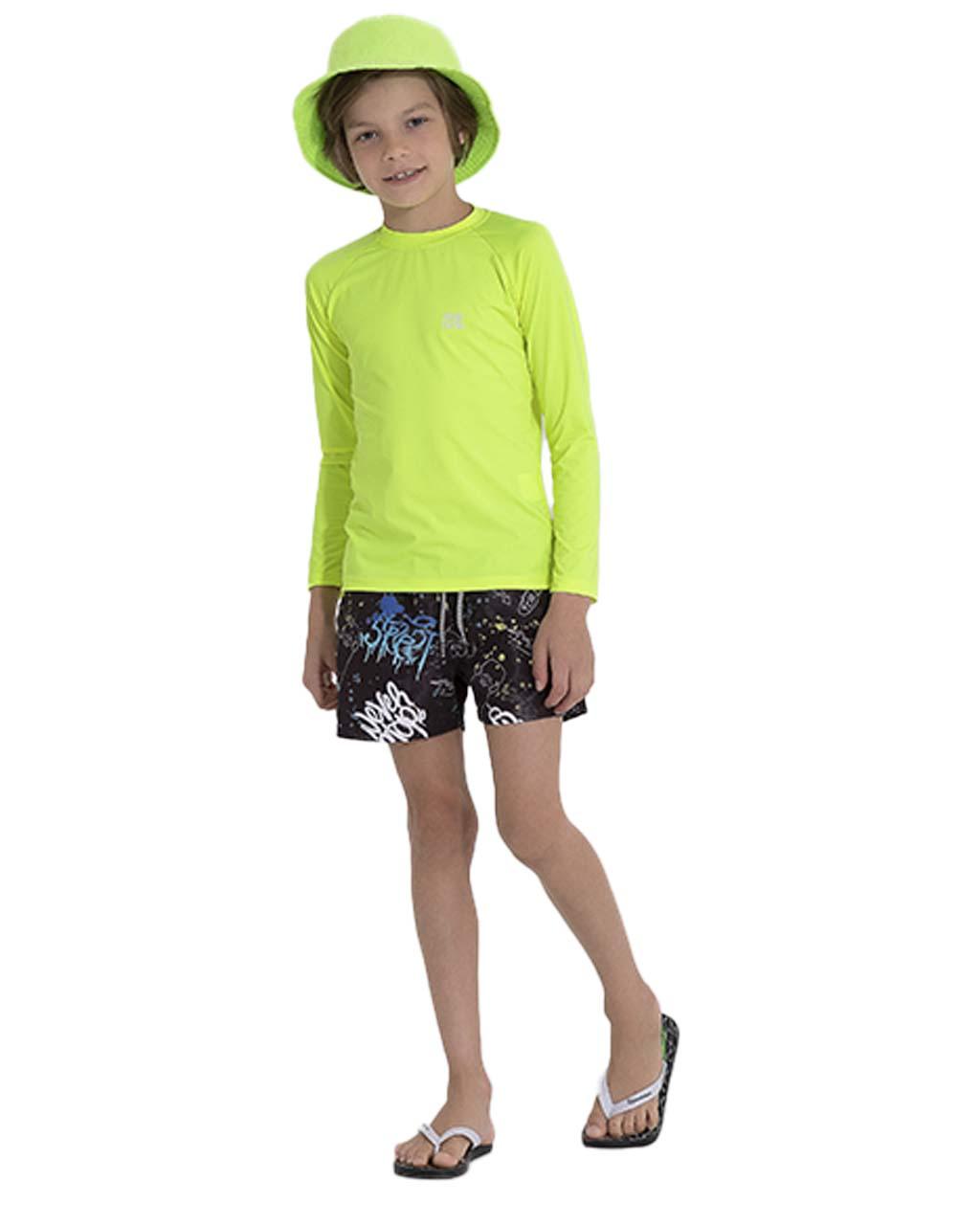 Shorts Infantil Estampado Pega Mania