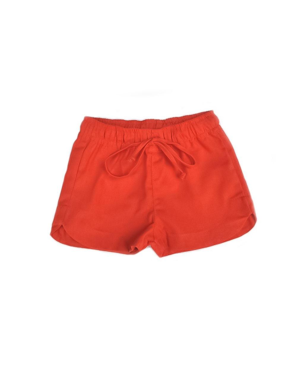 Shorts Infantil Fibra Natural Laranja Mundo Céu