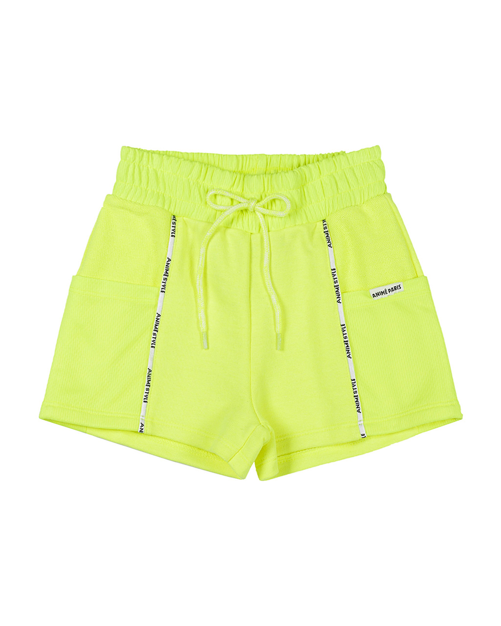 Shorts Infantil Moletom Amarelo Neon Animê