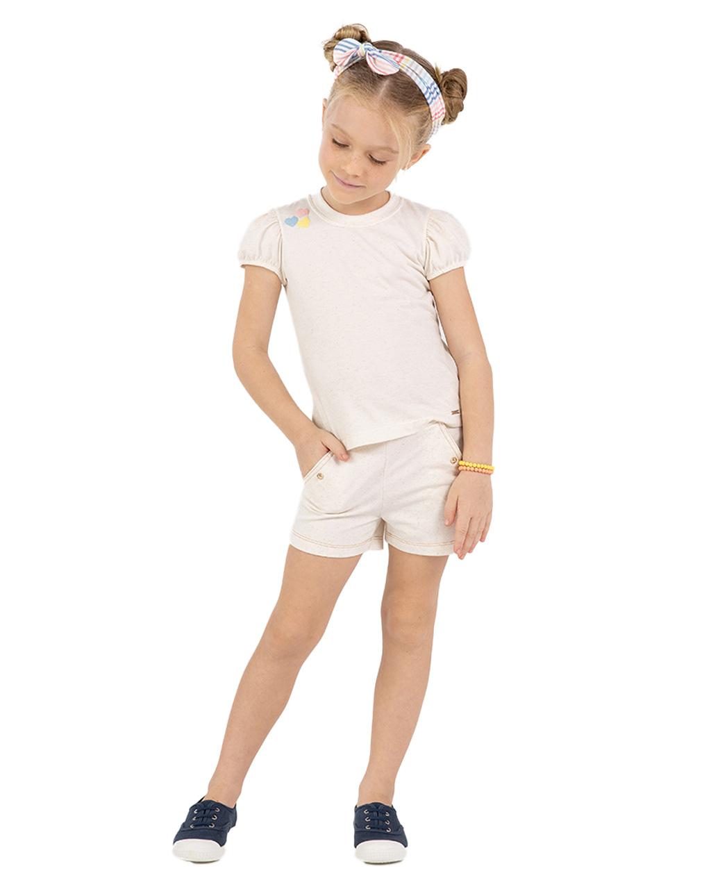 Shorts infantil Off White Beaba