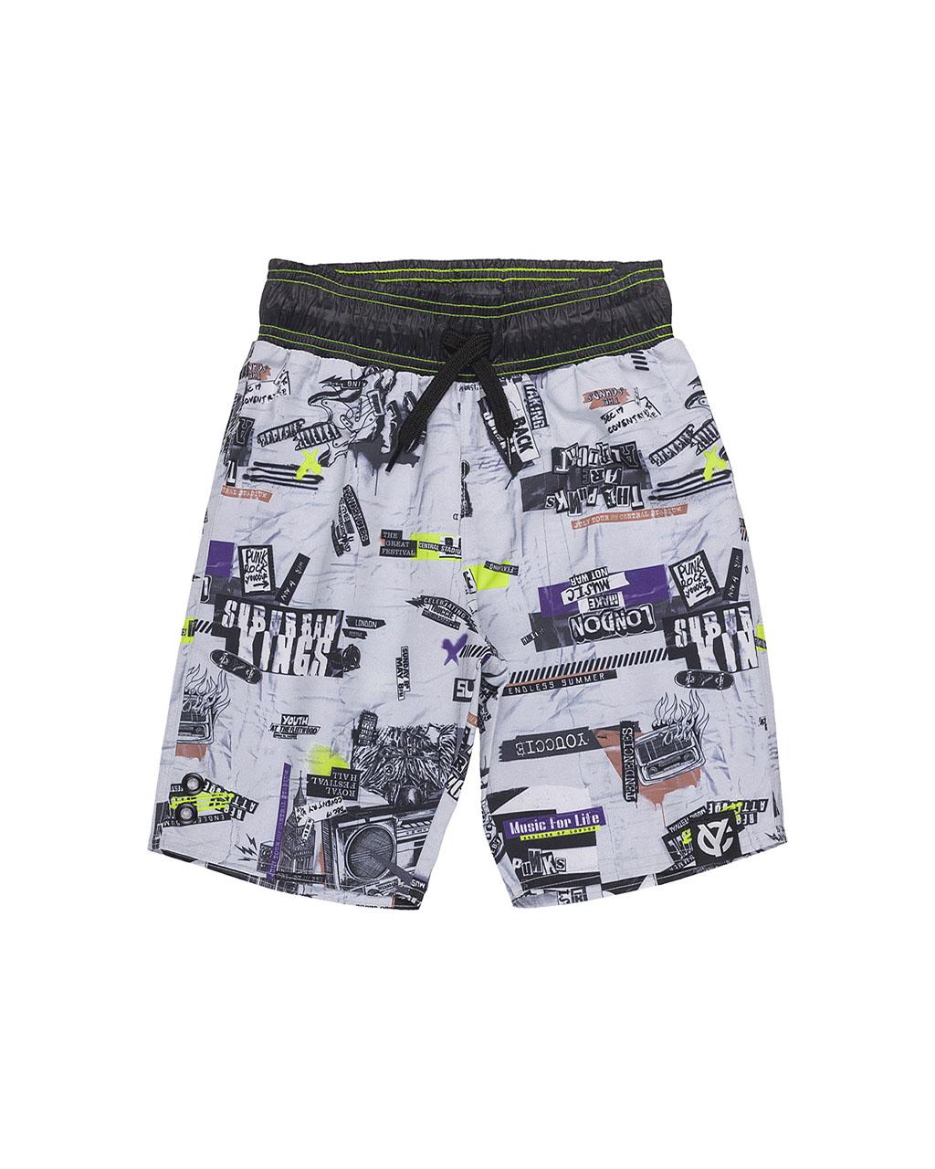 Shorts Infantil Tactel London Camden Town Street Youccie