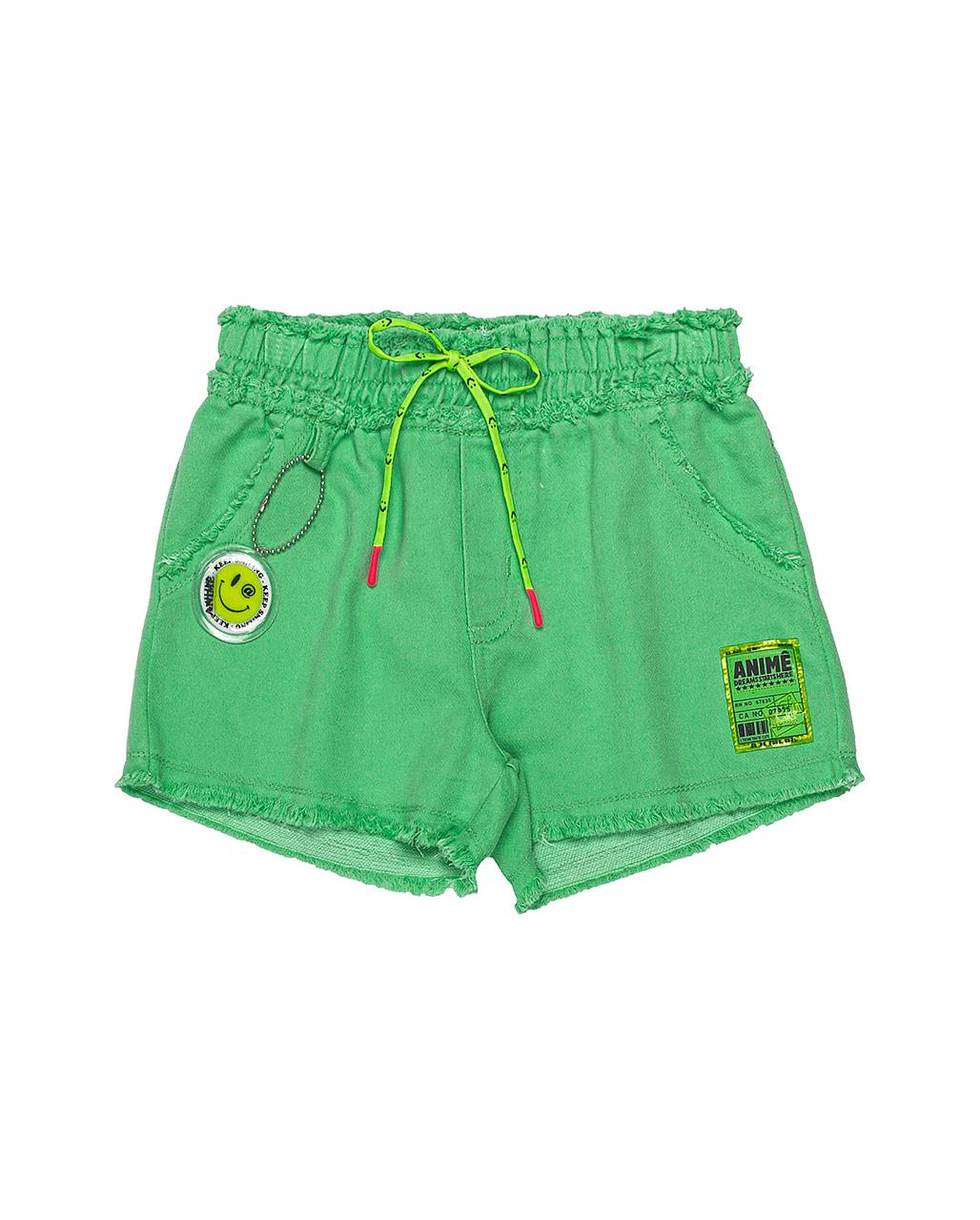 Shorts Infantil Verde Animê