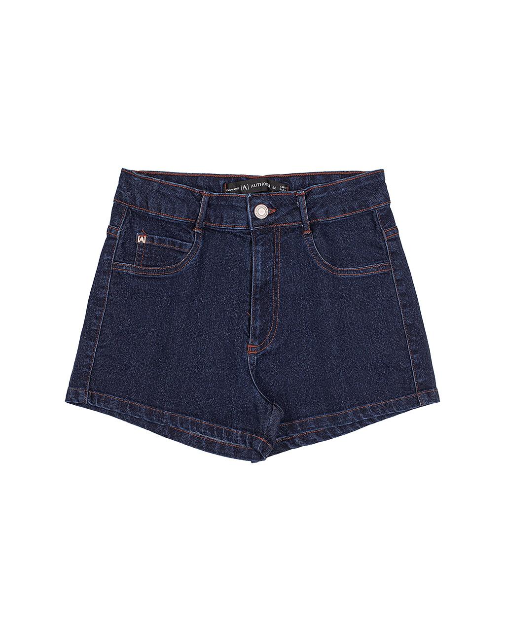 Shorts Jeans Escuro Basic Authoria