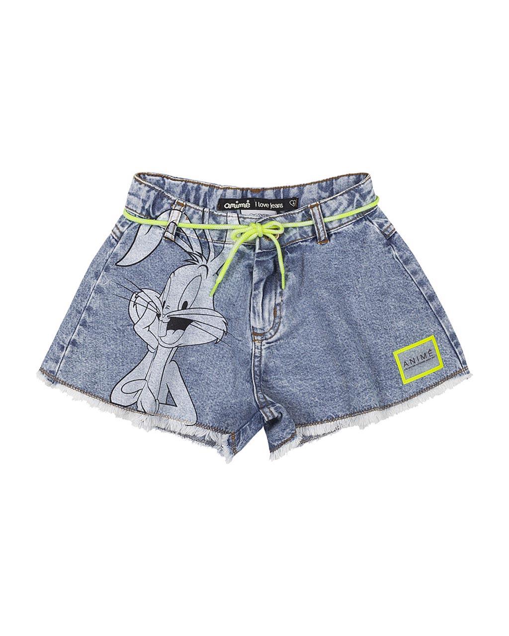 Shorts Jeans Infantil Pernalonga Animê