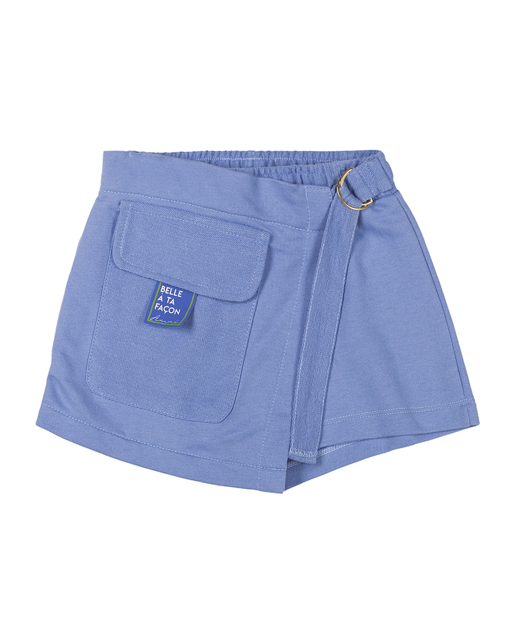 Shorts Saia Infantil Moletom Bolso na Frente Animê