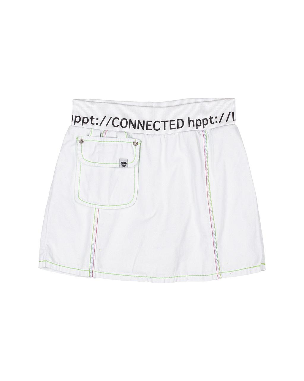 Shorts Saia Teen Linhas Neon Off White I Am