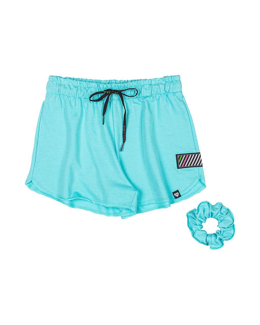 Shorts Teen Azul com Amarrador I Am Authoria
