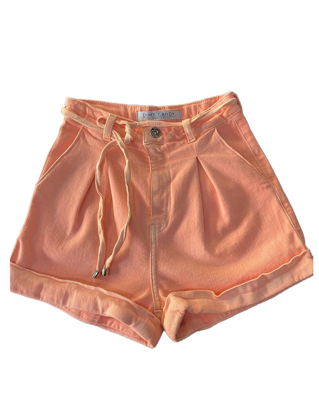 Shorts Teen Feminino com Pregas Dimy Candy