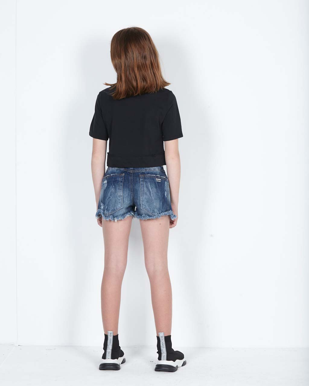 Shorts Teen Jeans Destroyed Dimy Candy