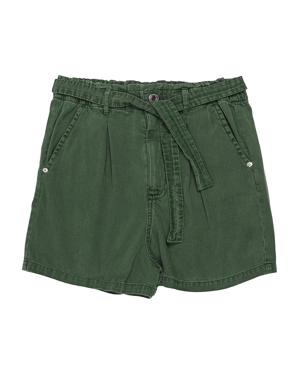 Shorts Teen Sarja Verde Authoria