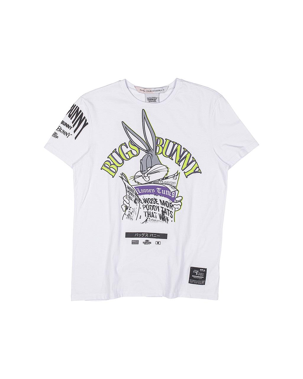 T-Shirt Alongada Pernalonga Off White I Am