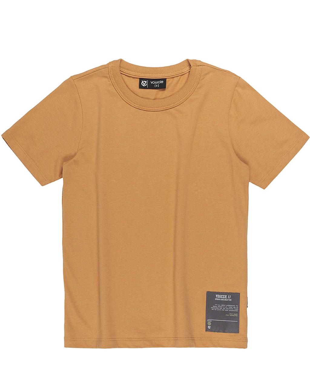 T-Shirt Básica Masculina Mostarda Youccie