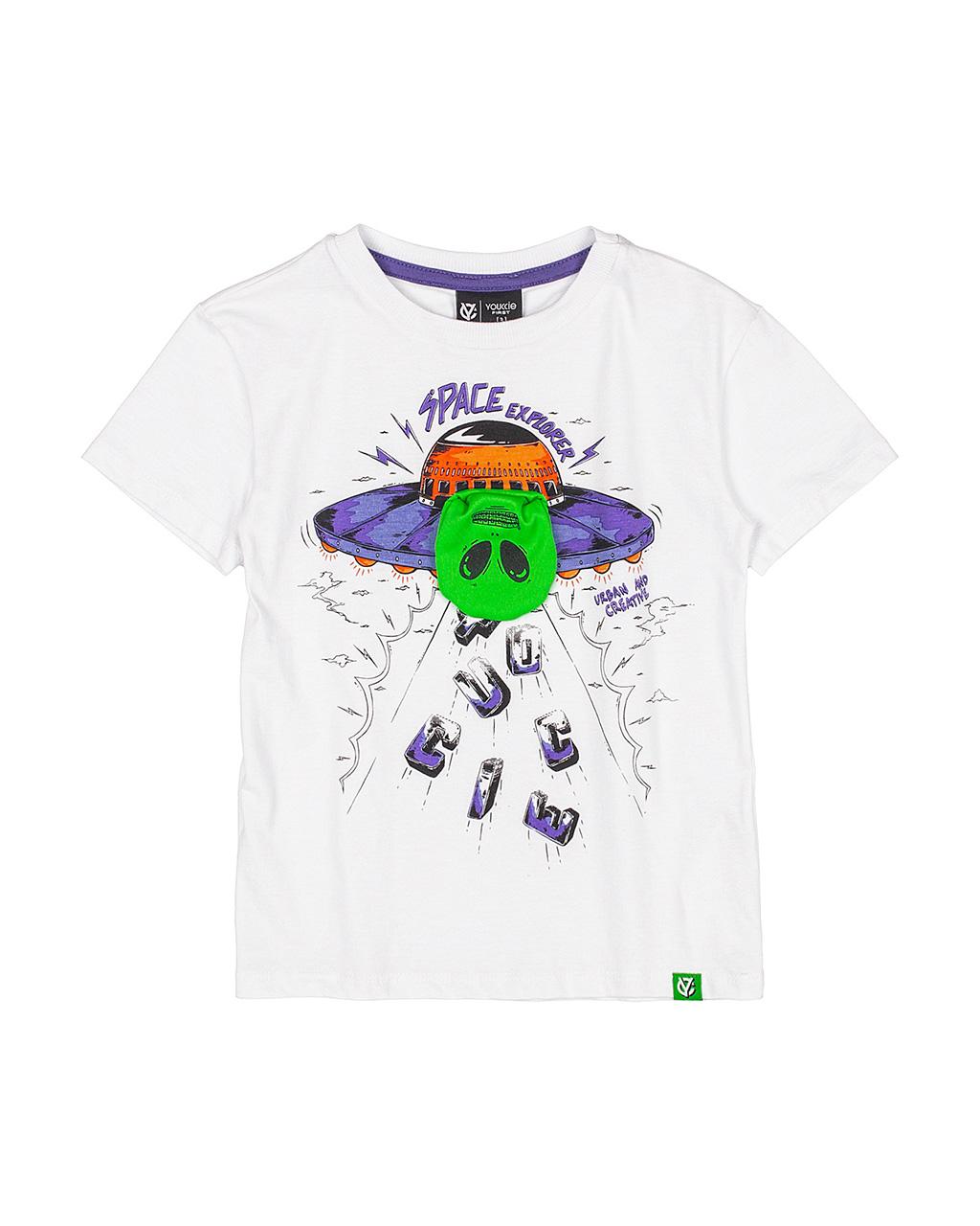T-Shirt Infantil Alienigena Off White Youccie