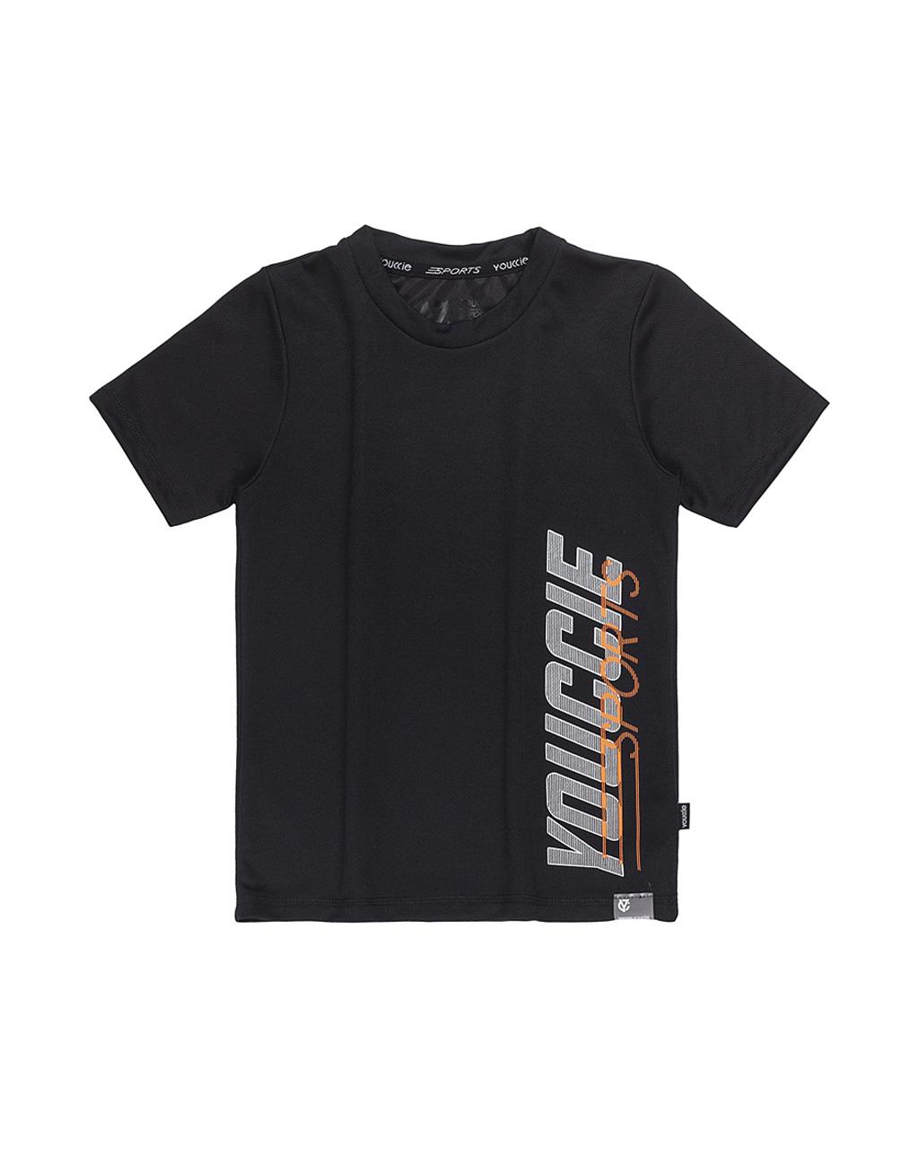 T-Shirt Infantil Arte Lateral Active Slilk Esporte Preta  Youccie