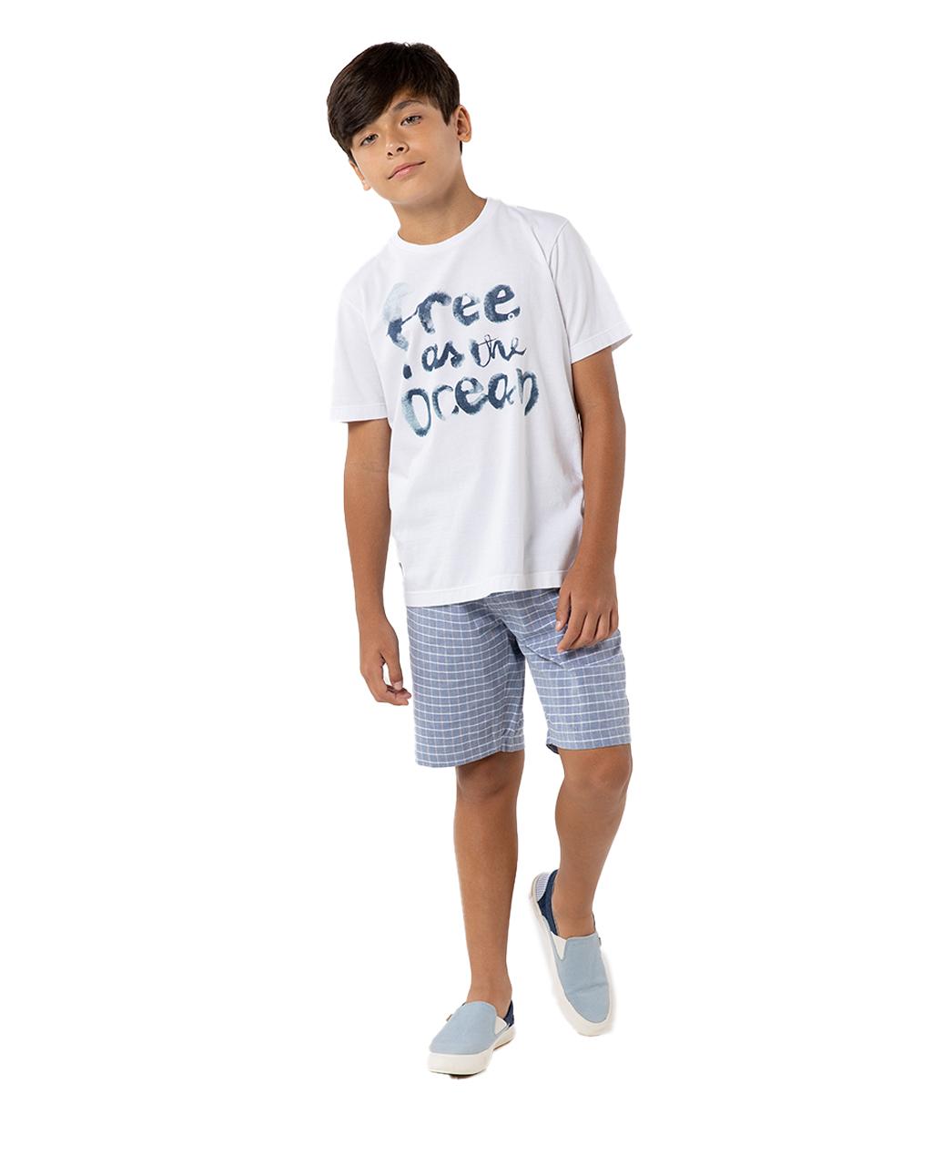 T-Shirt Infantil Free As The Ocean Um Mais Um