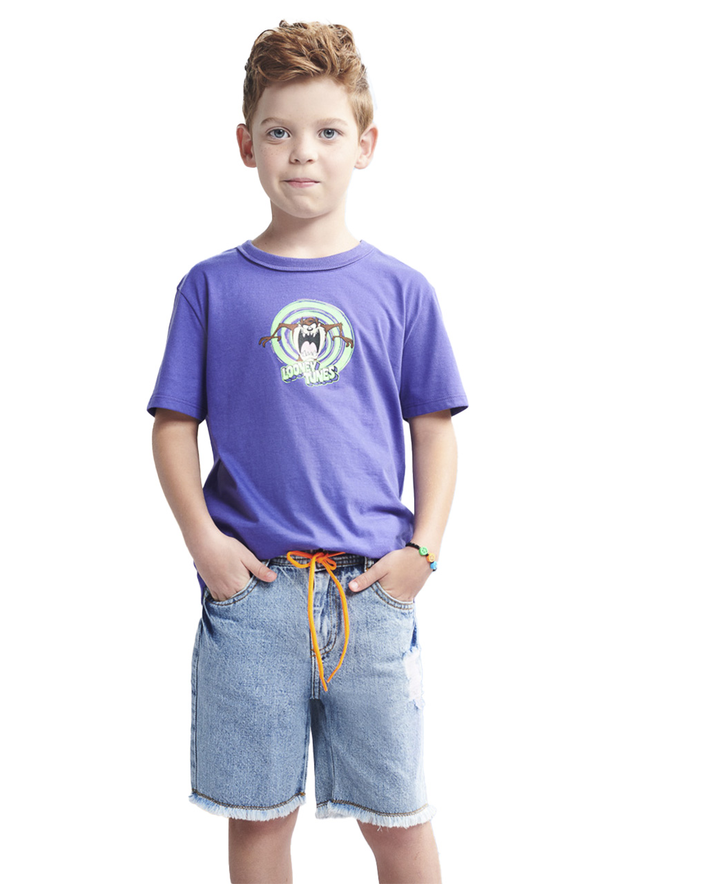 T-Shirt Infantil Looney Tunes Roxo Youccie