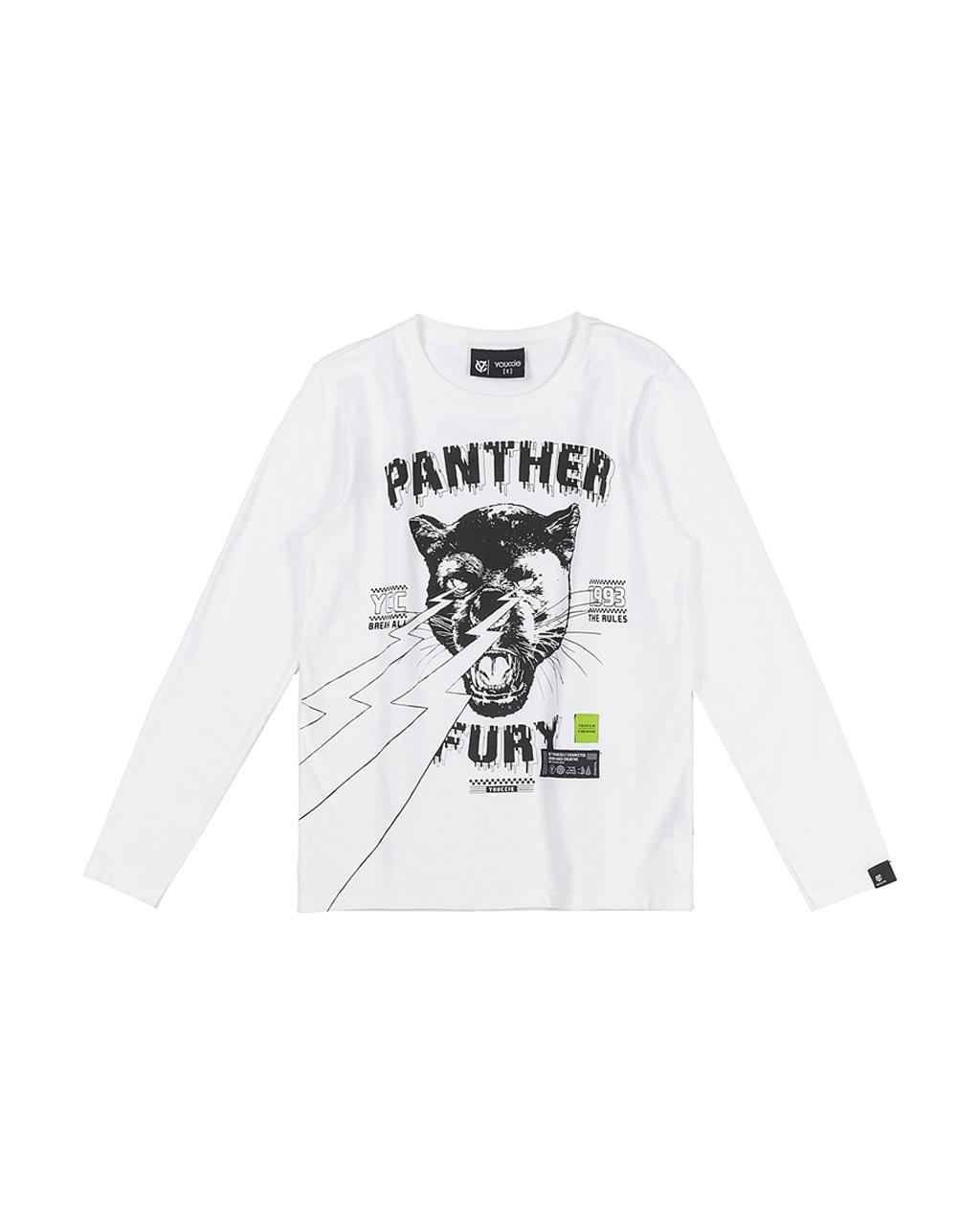 T-Shirt Infantil Manga Longa Panther Youccie