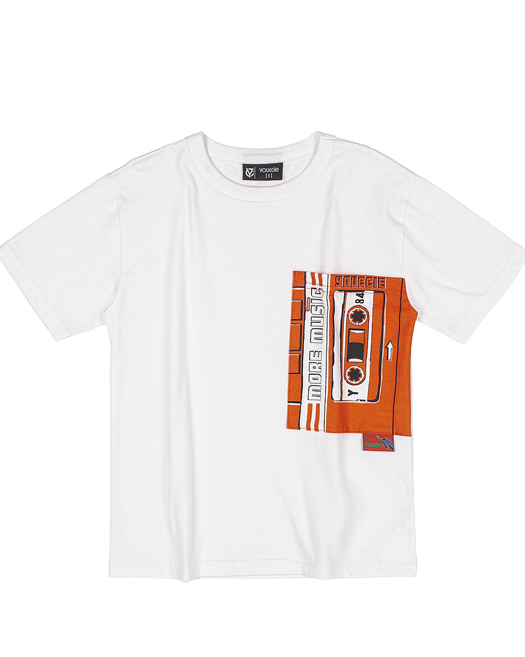 T-Shirt Infantil More Music Off White Youccie
