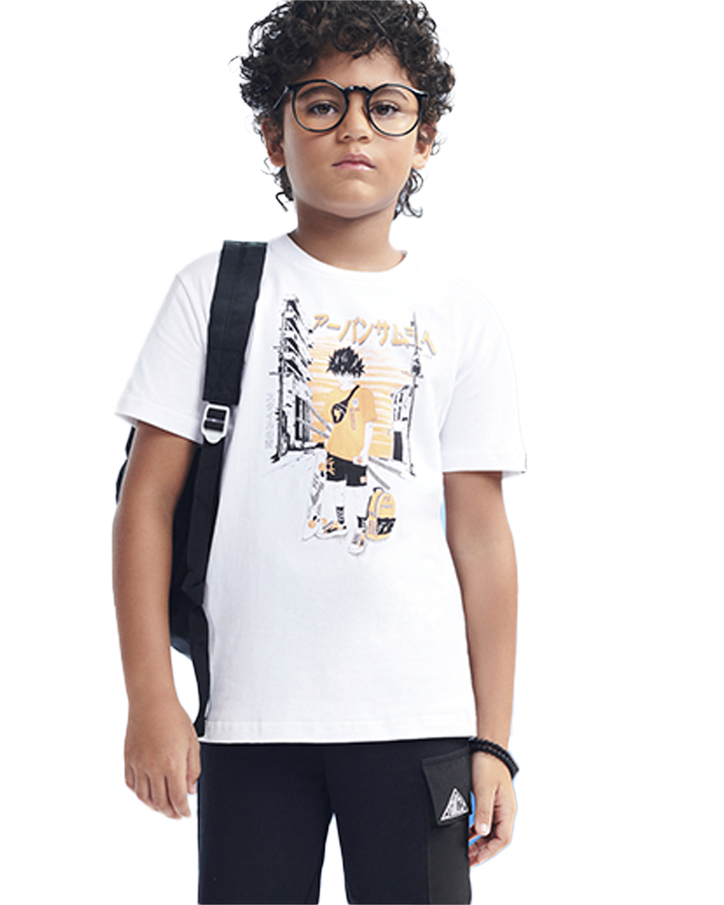 T-Shirt Infantil Naruto Off White Youccie