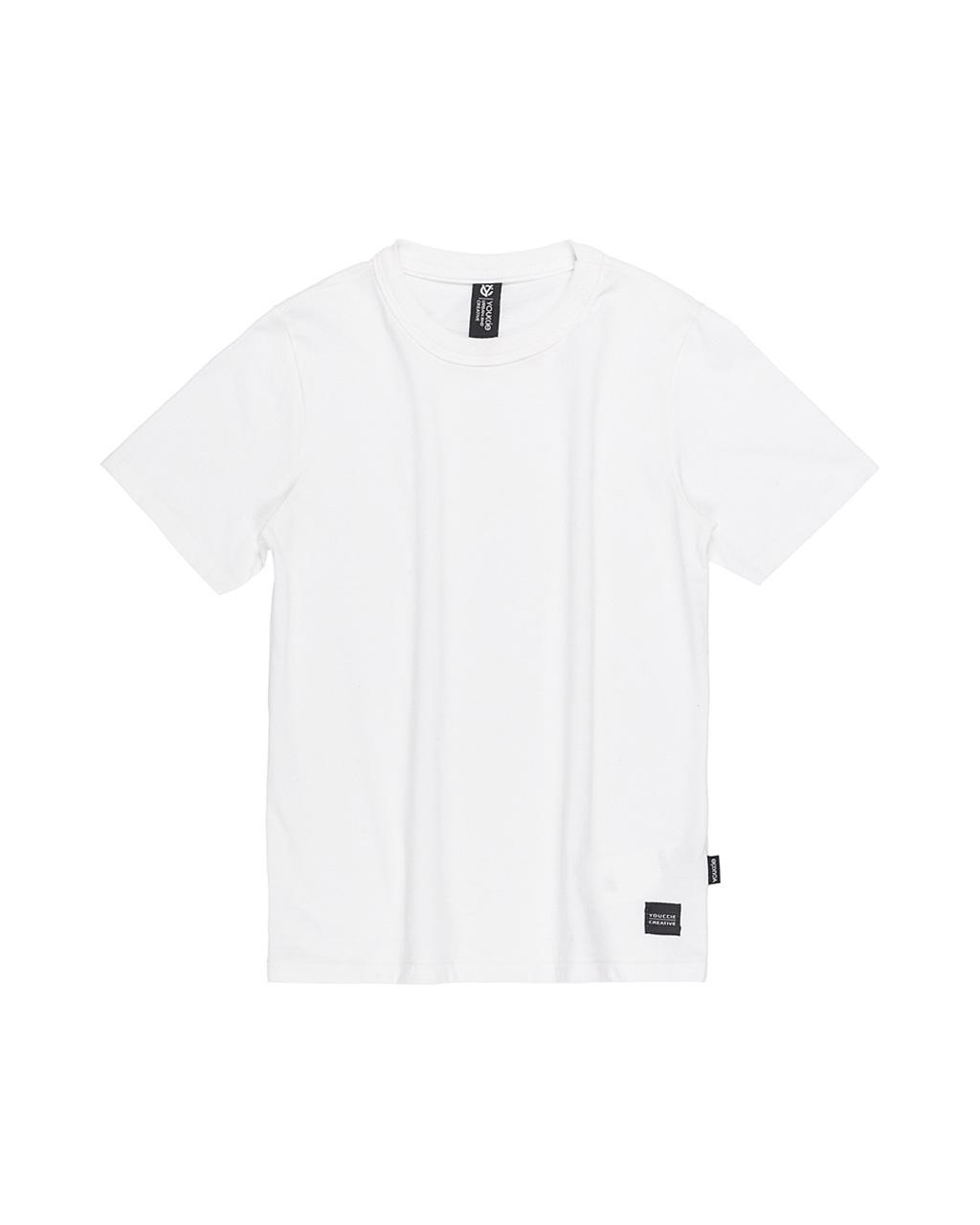 T-Shirt Infantil Slim Básica Off White Youccie
