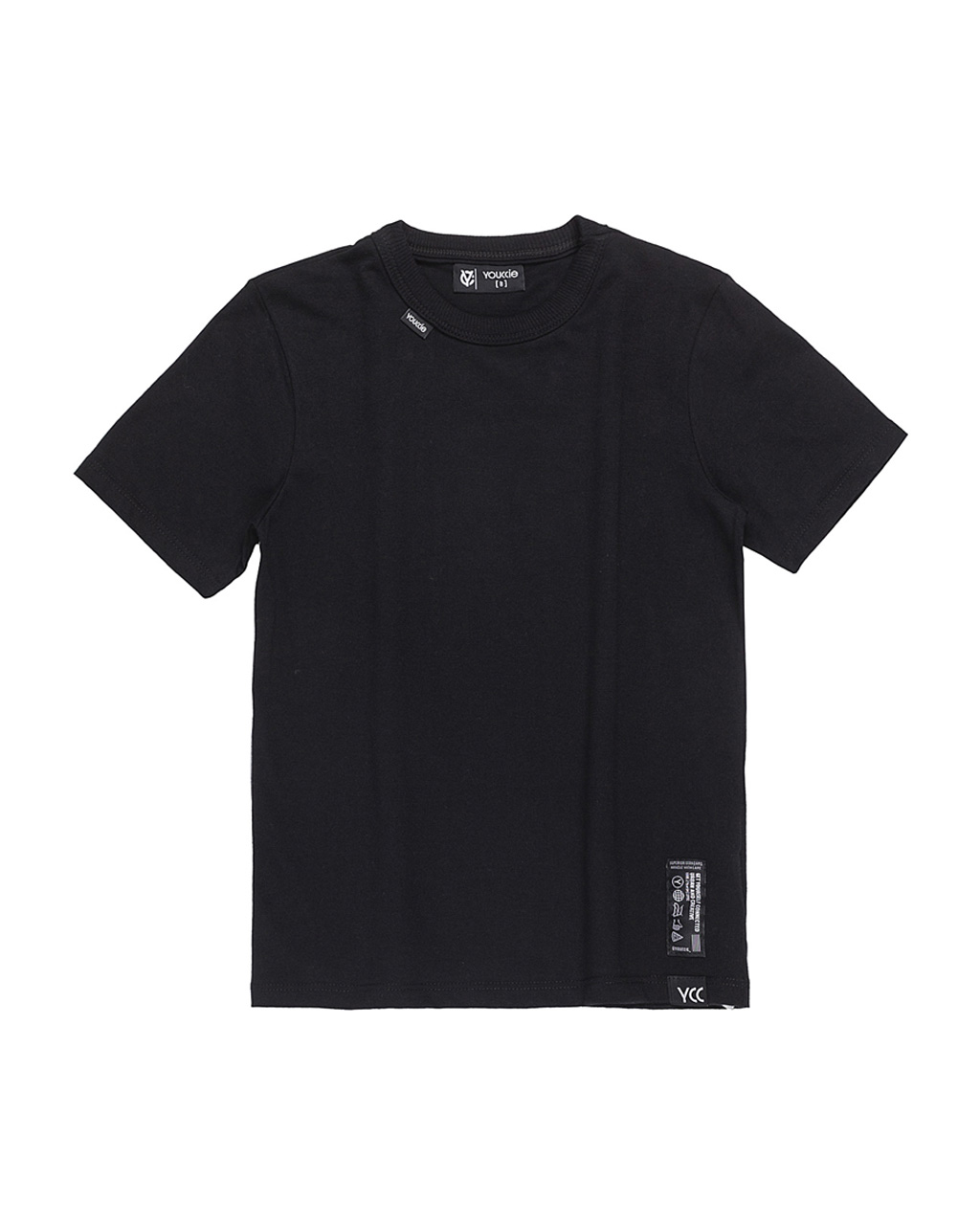 T-Shirt Infantil Slim Básica Preto Youccie