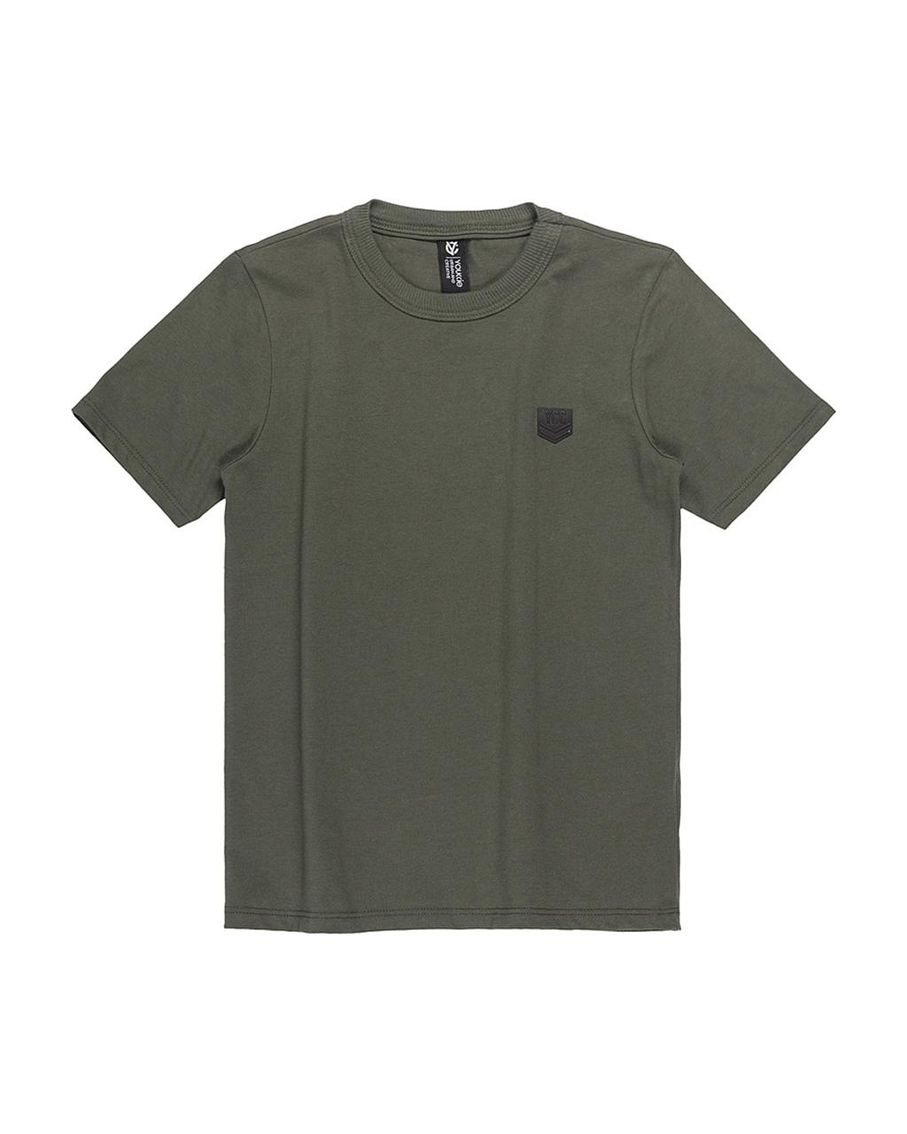 T-Shirt Infantil Slim Básica Verde Militar Youccie