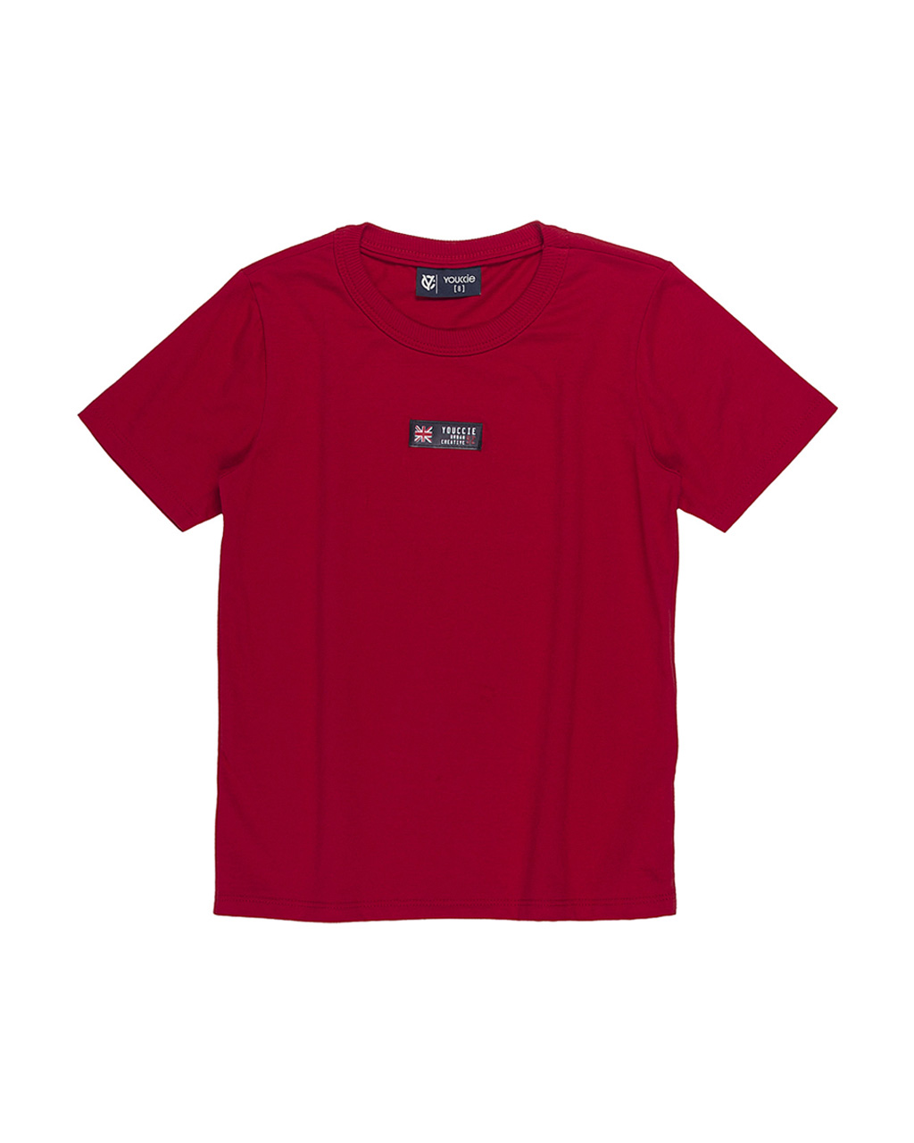T-Shirt Infantil Slim Básica Vermelho Youccie