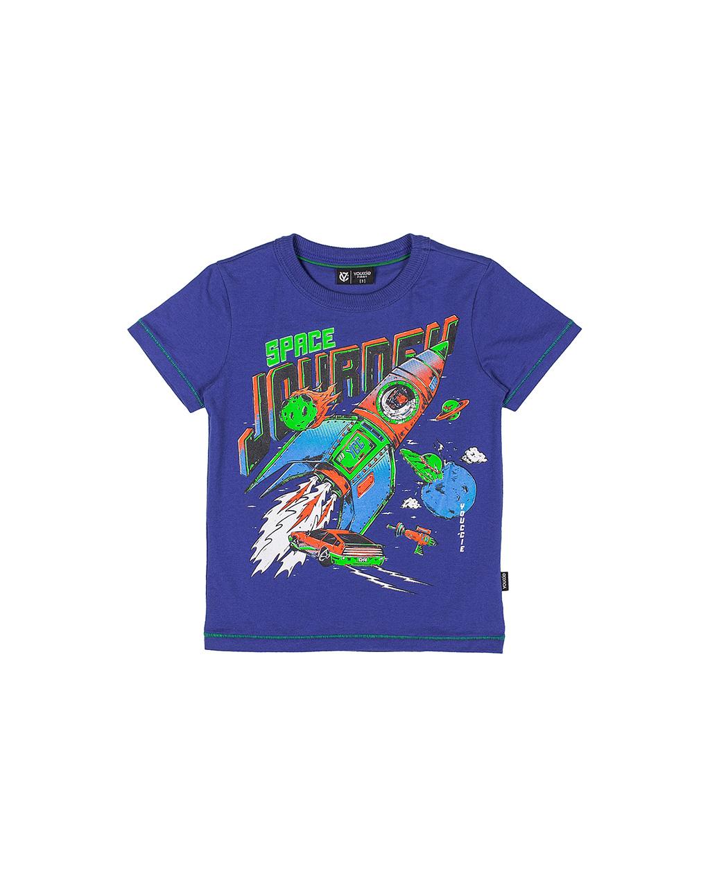 T-Shirt Infantil Space Azul Youccie