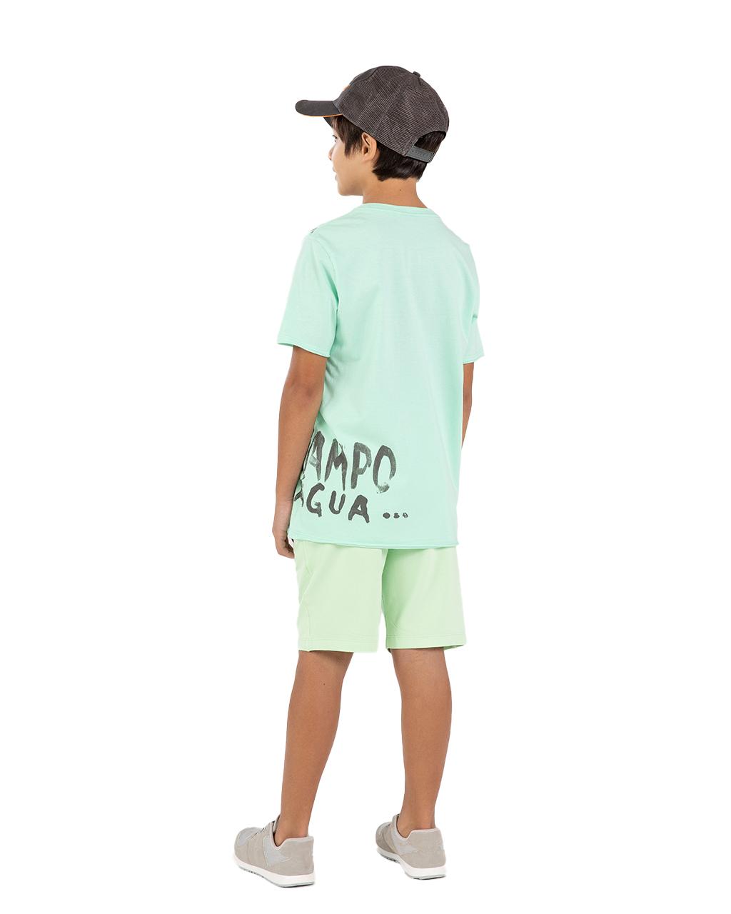 T-Shirt Infantil Verde Um Mais Um