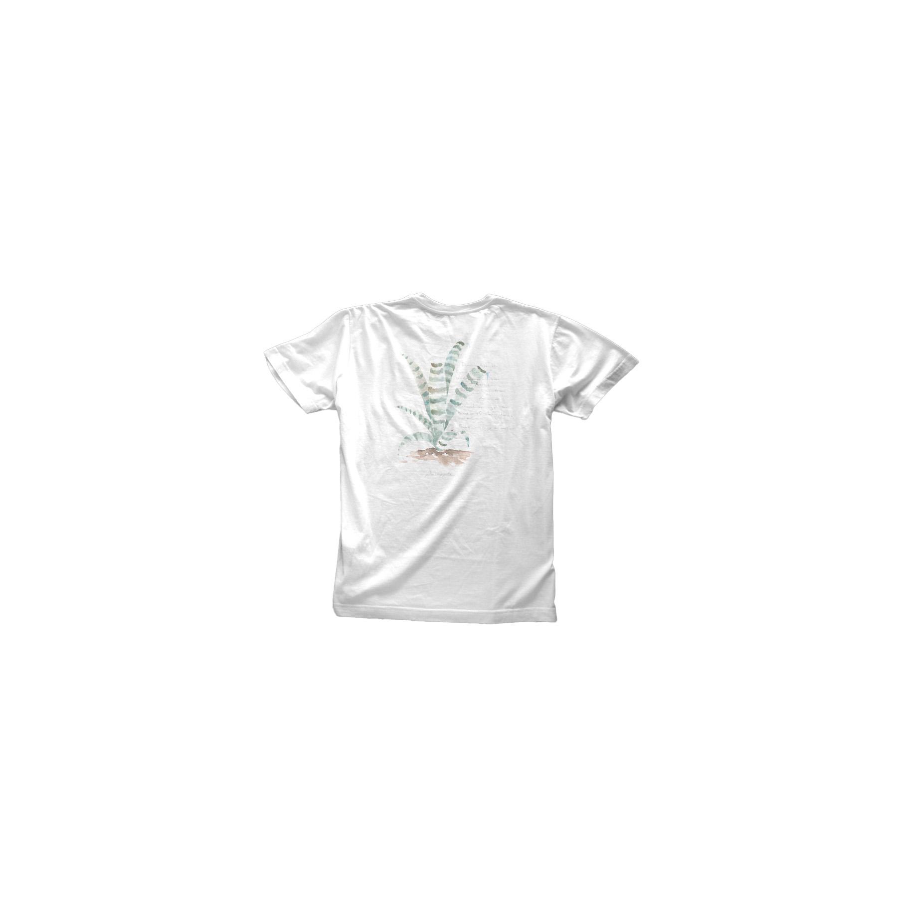 T-Shirt Silk Botanica Off White Pineapple